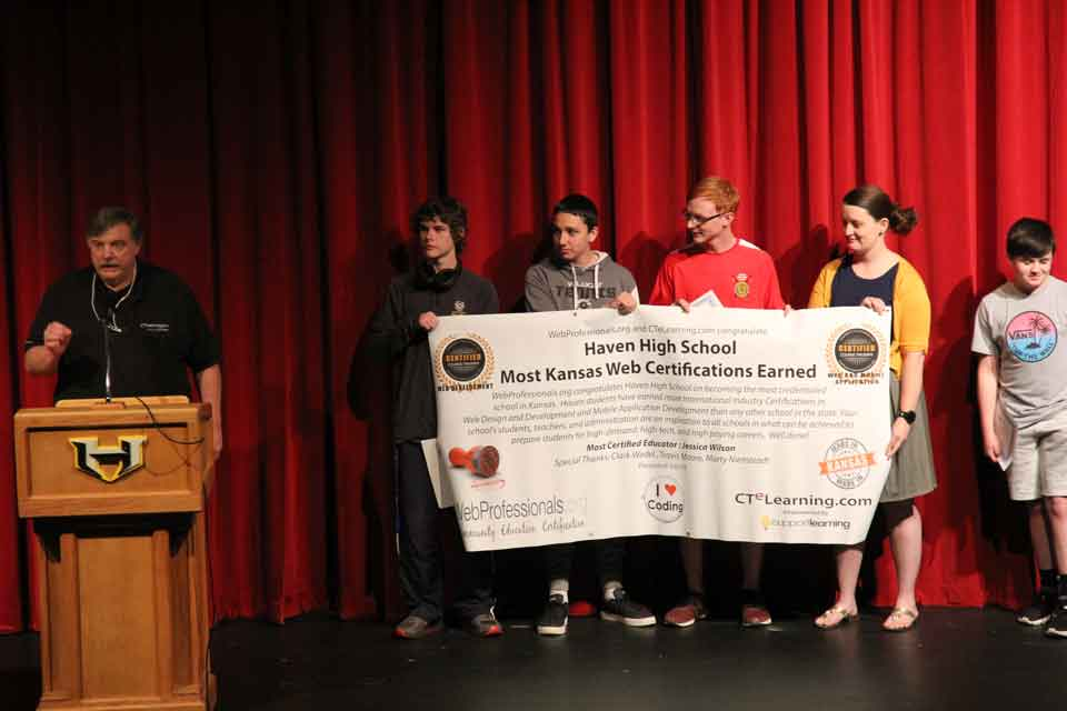 Congratulations Kansas High School Stackable Industry Recognized Certifications