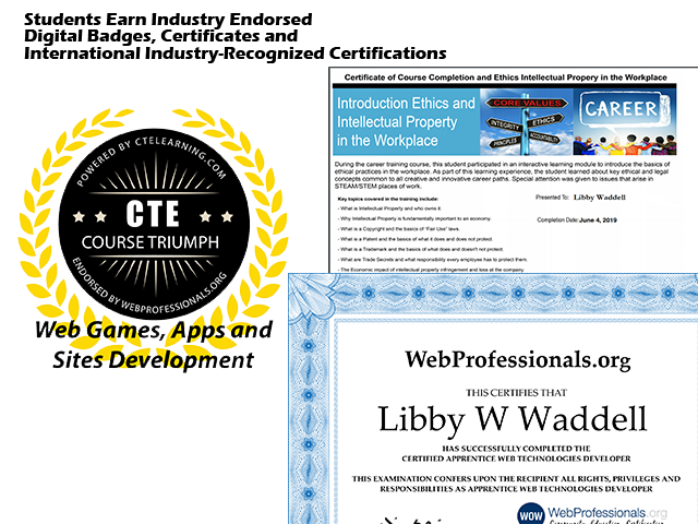 Industry Recognized Certification Web Game Web App Web Site Development